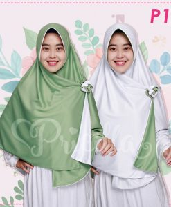 Jilbab Pricilla 2in1 Original Mint P10
