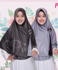 Jilbab Pricilla 2in1 Original Monochrome P9