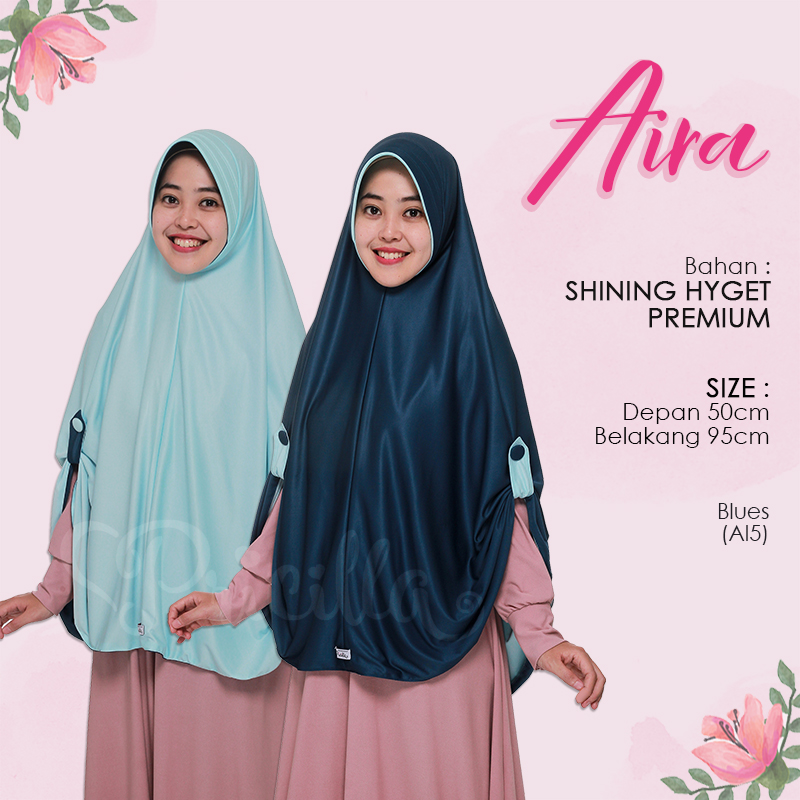 Jilbab Pricilla Aira 2in1 Blues A15