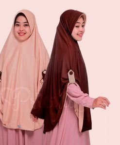 JIlbab Pricilla Aira 2in1 Choco Cream A14