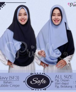 Jilbab Pricilla Safa 2in1 Navy SF3