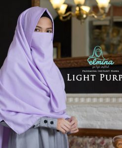 Jilbab Elmina Pashmina Instant Hawa Light Purple
