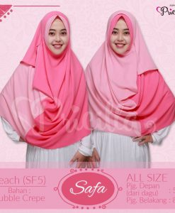 Jilbab Pricilla Safa 2in1 Peach SF5