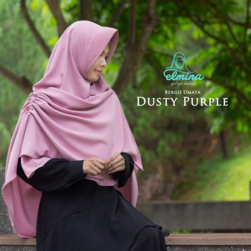 Jilbab Elmina Bergo Umaya Dusty Purple