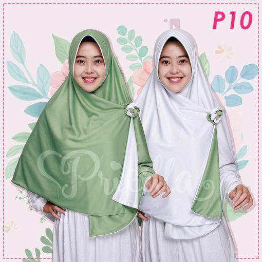 Jilbab Pricilla 2in1 Original Mint P10
