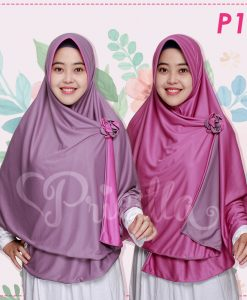Jilbab Pricilla 2in1 Original Sweet Violet P12