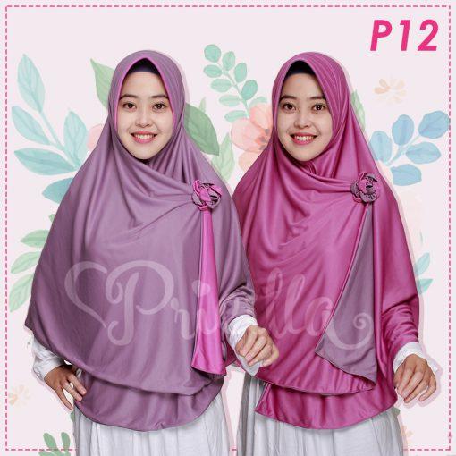 Jilbab Pricilla 2in1 Original Sweet Violet P12