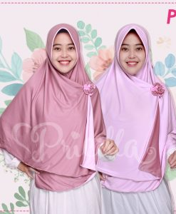 Jilbab Pricilla 2in1 Original Baby Pink P8