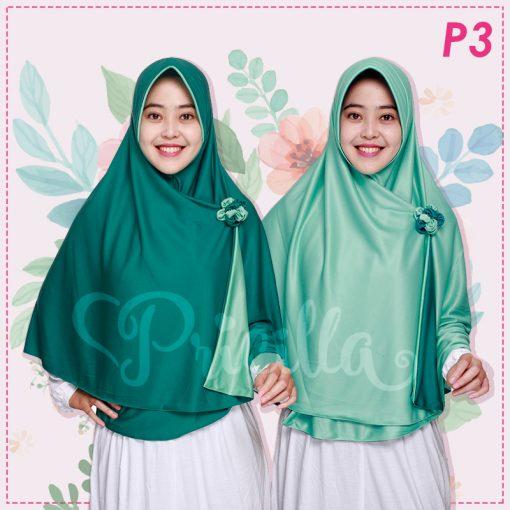 Jilbab Pricilla 2in1 Original Green Tea P3