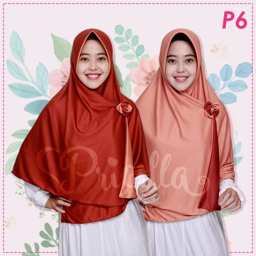 Jilbab Pricilla 2in1 Original Chili Red P6