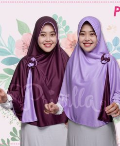 Jilbab Pricilla 2in1 Original Lavender p7