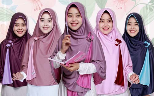 jilbab pricilla 2 in 1