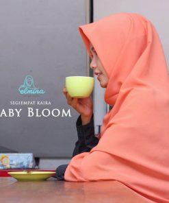 Jilbab Elmina Segiempat Kaira Polos Baby Bloom-150cm