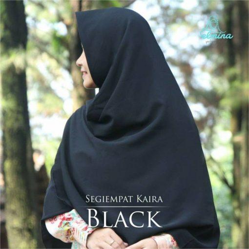 JJilbab Elmina Segiempa Kaira Polos Black-150cm