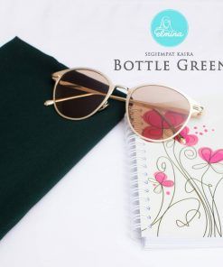 Jilbab Elmina Segiempat Kaira Polos Bottle Green-150cm