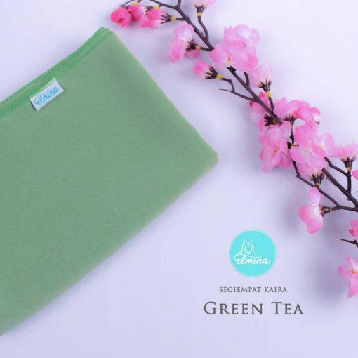 Jilbab Elmina Segiempat Kaira Polos Green Tea-150cm