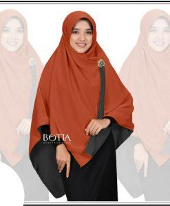Jilbab Botia Bolak-Balik Hitam-Bata