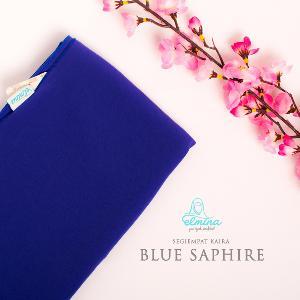 Jilbab Elmina Segiempat Kaira Polos Blue Saphire-150cm