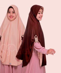 JIlbab Pricilla Aira 2in1 Choco Cream A14
