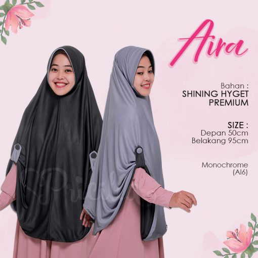Jilbab Pricilla Aira 2in1 Monochrome AI6