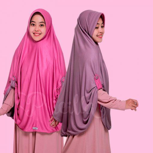Jilbab Pricilla Aira 2in1 Sweet Violet A17