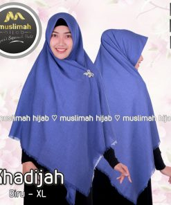 Jilbab Muslimah Hijab Khadijah Biru