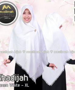 Jilbab Muslimah Hijab Khadijah Broken White
