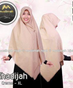 Jilbab Muslimah Hijab Khadijah Creme