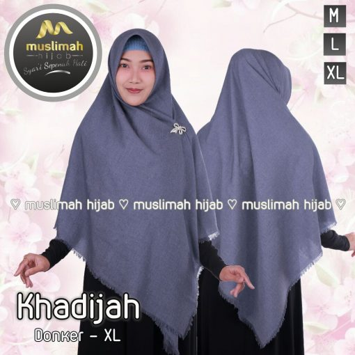 Jilbab Muslimah Hijab Khadijah Dongker