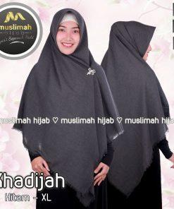 Jilbab Muslimah Hijab Khadijah Hitam