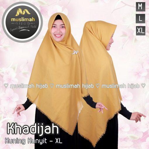 Jilbab Muslimah Khadijah Rawis Kuning Kunyit
