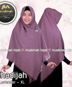 Jilbab Muslimah Hijab Khadijah Lavender
