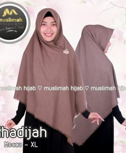 Jilbab Muslimah Hijab Khadijah Mocca