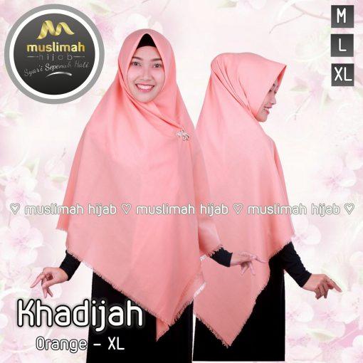 Jilbab Muslimah Hijab Khadijah Orange