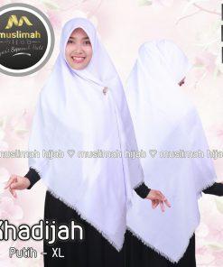 Jilbab Muslimah Hijab Khadijah Putih