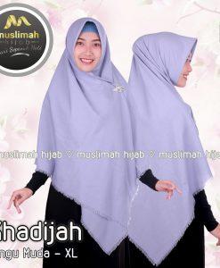 Jilbab Muslimah Hijab Khadijah Ungu Muda