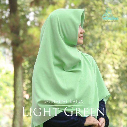 Jilbab Elmina Segiempat Kaira Polos Light Green-150cm