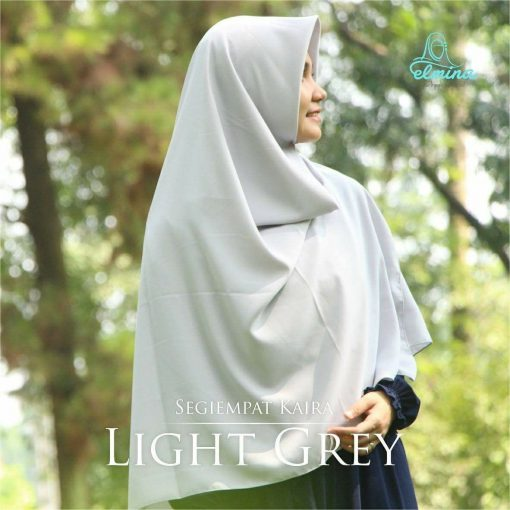Jilbab Elmina Segiempat Kaira Polos Light Grey-150cm