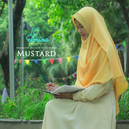 Jilbab Elmina Pashmina Instant Hijri Bubble Mustard