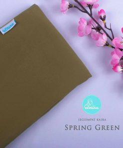 Jilbab Elmina Segiempat Kaira Polos Spring Green-150cm