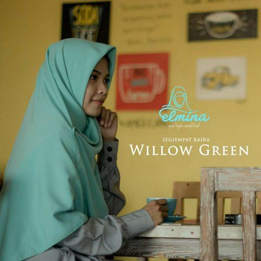 Jilbab Elmina Segiempat Kaira Polos Willow Green-150cm