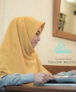 Jilbab Elmina Segiempat Kaira Polos Mustard-150cm