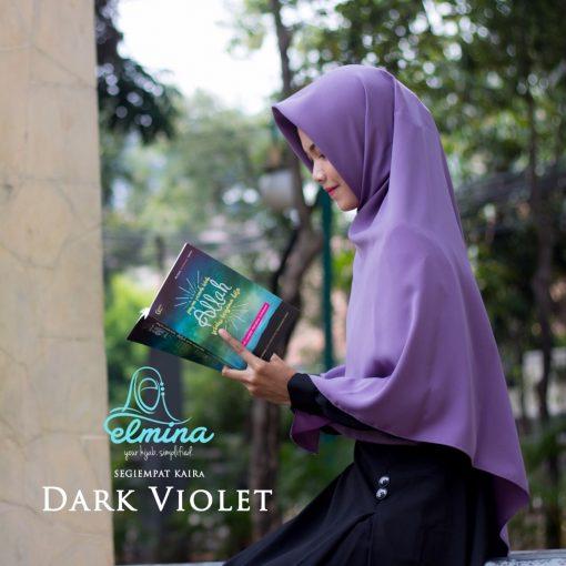 Jilbab Elmina Segiempat Kaira Polos Dark Violet-130cm
