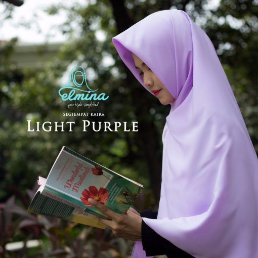 Jilbab Elmina Segiempat Kaira Polos Light Purple-130cm