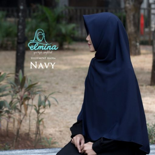 Jilbab Elmina Kaira Segiempat Navy 130cm