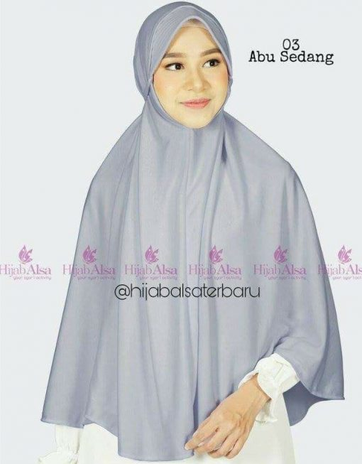 Jilbab Hijab Alsa Bergo Kalila - Abu Sedang
