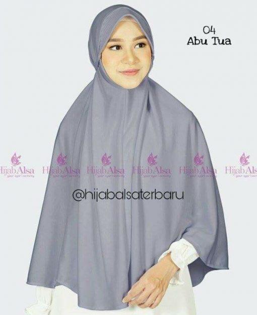 Jilbab Hijab Alsa Bergo Kalila - Abu Tua