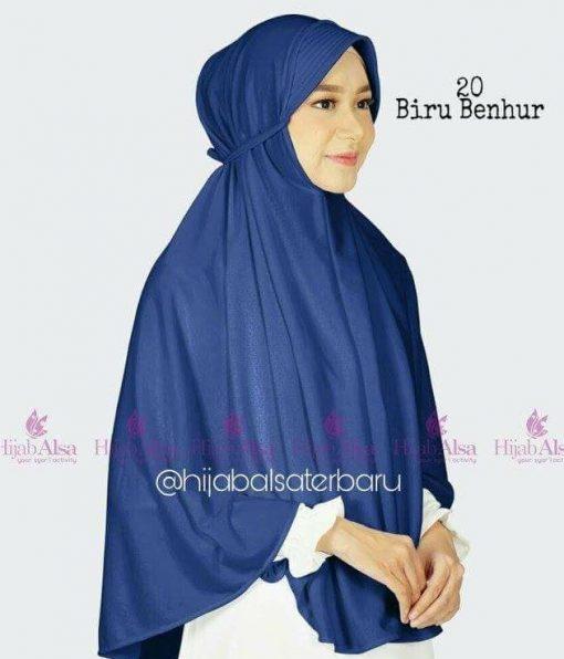 Jilbab Hijab Alsa Bergo Kalila - Biru Benhur