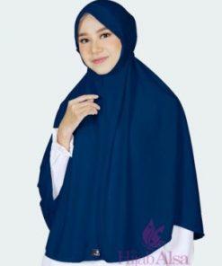 Jilbab Hijab Alsa Bergo Kalila - Biru Dongker