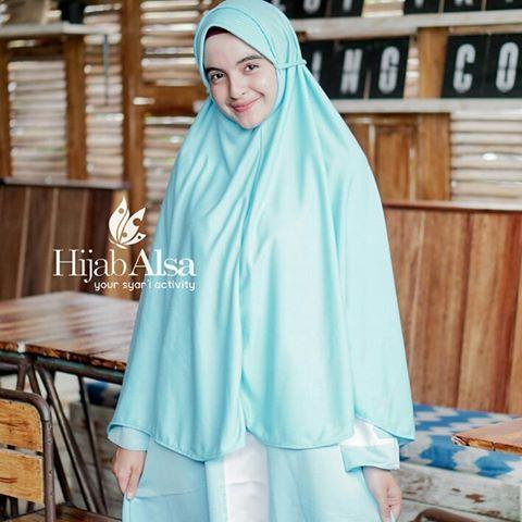 Jilbab Hijab Alsa Bergo Kalila - Biru Langit